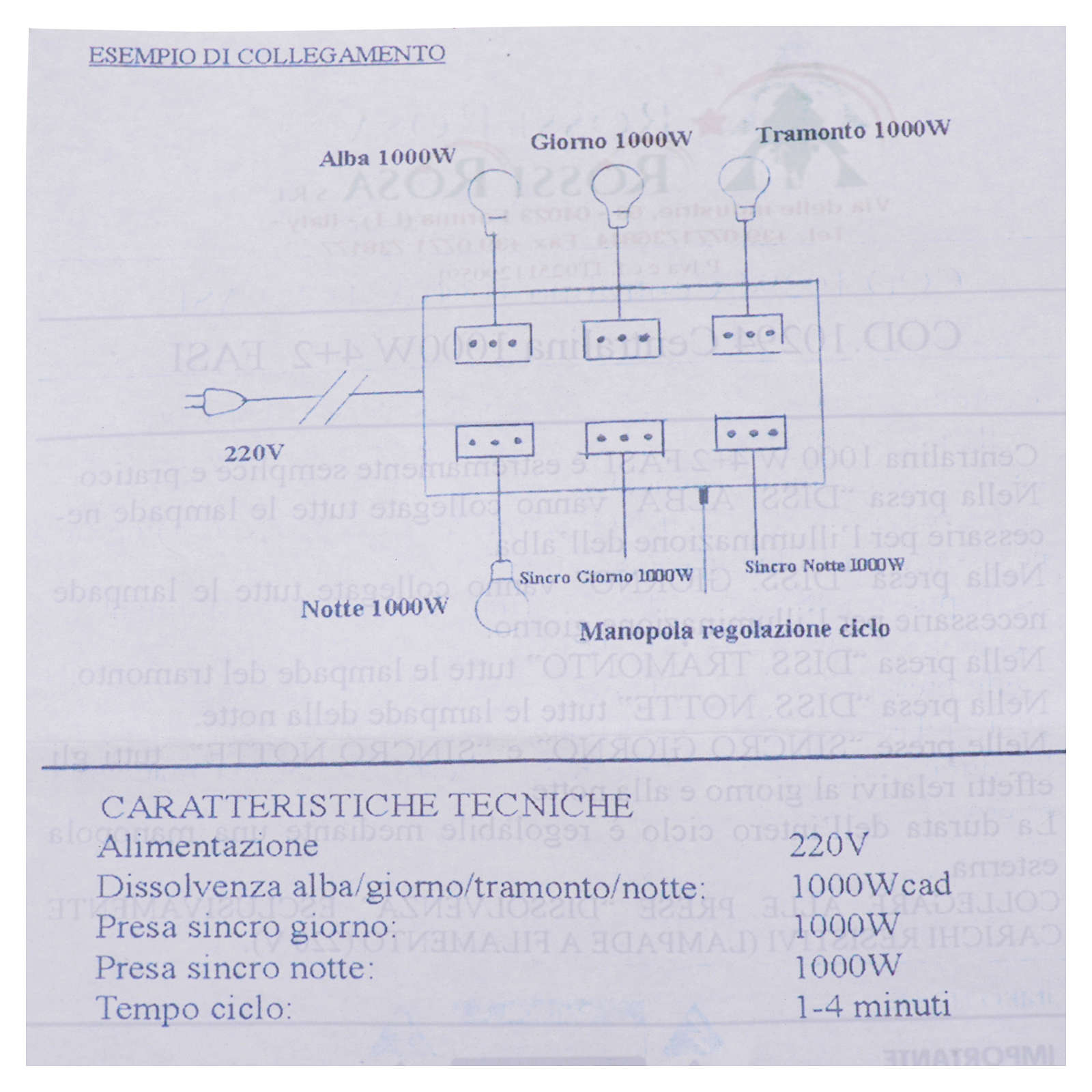 Nativity control unit 4+2 phases 1000W 4