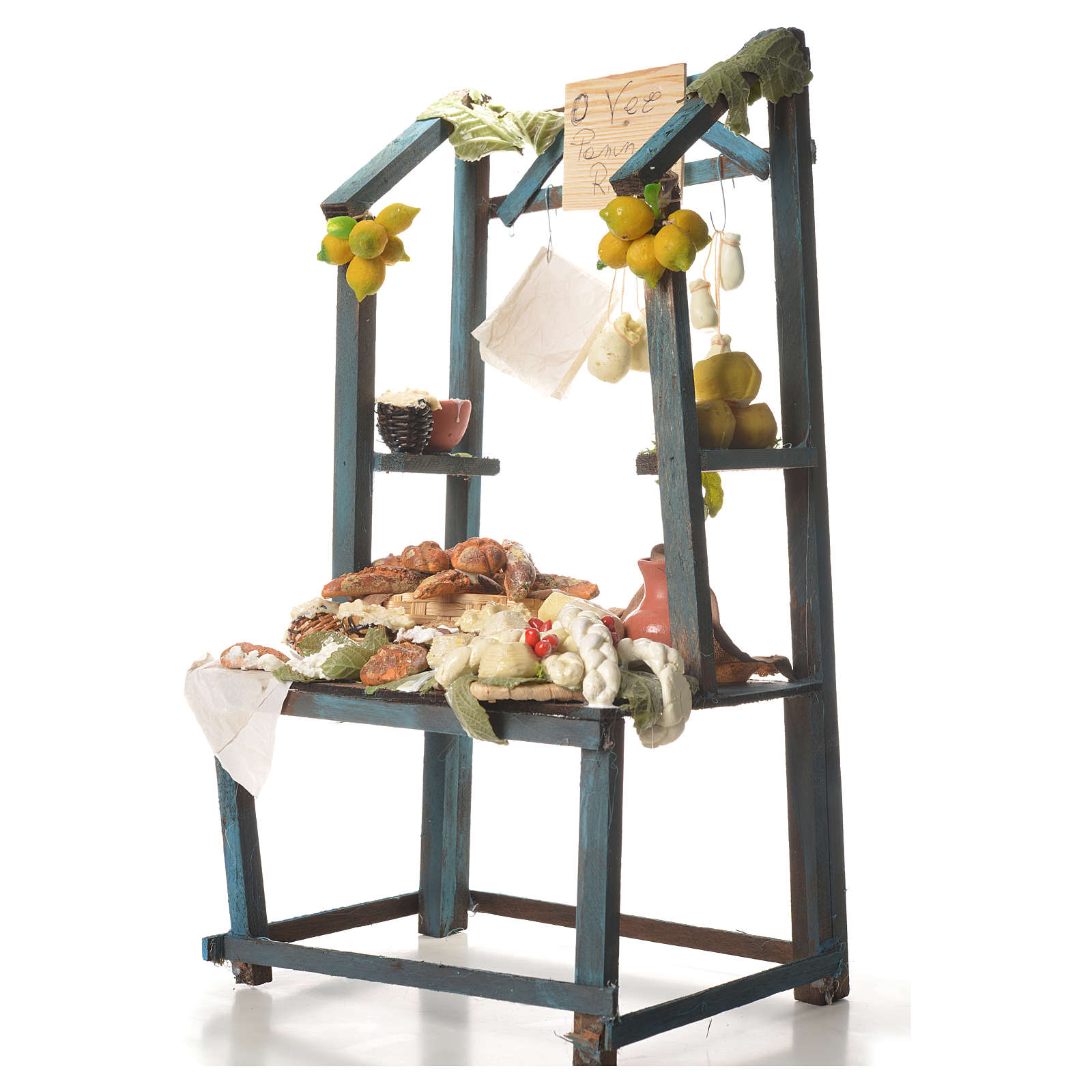 Nativity ricotta cheese stall, 41x25x15cm 4