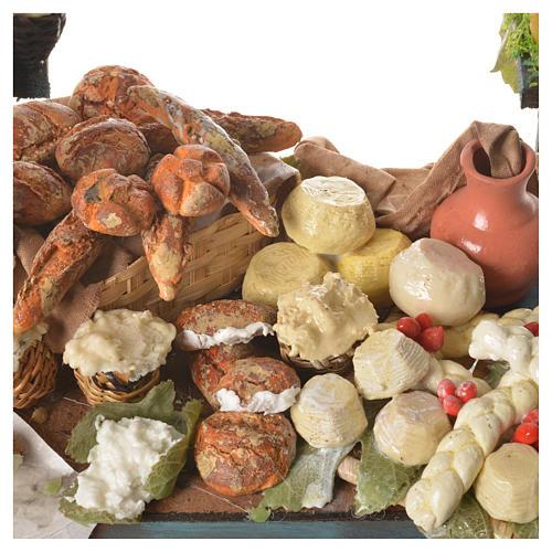 Nativity ricotta cheese stall, 41x25x15cm 5