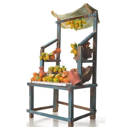 Stand mit Zitronen aus Wachs 41x25x16cm 2