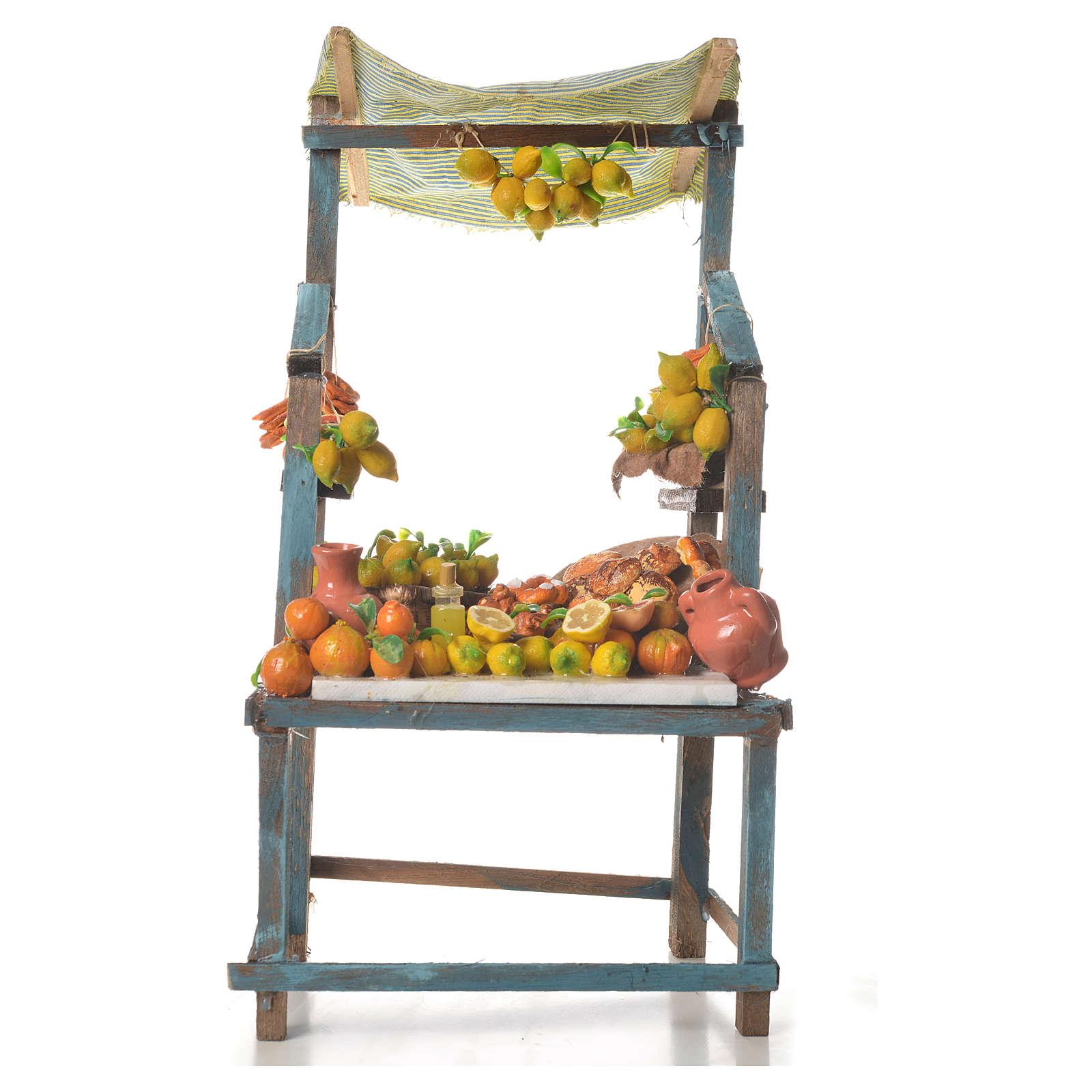 Banco vendita di limoni in cera 41x23x15 cm 4