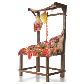 Nativity meat and cured meat stall, 41x28x15cm s2