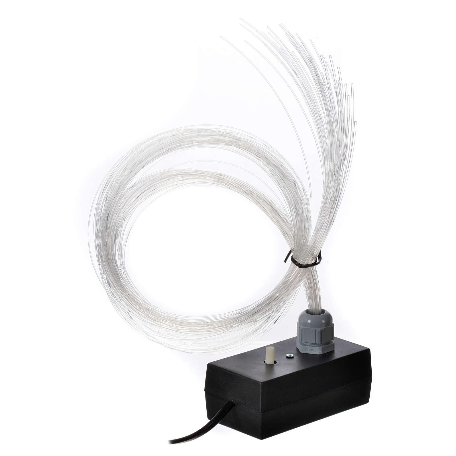 Iluminador LED con luz gradual y trémula 45 hilos fibra óptica 4