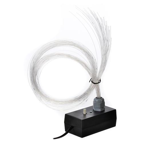 Iluminador LED con luz gradual y trémula 45 hilos fibra óptica 1
