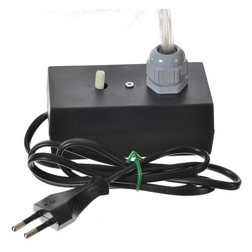 Iluminador LED con luz gradual y trémula 45 hilos fibra óptica 2