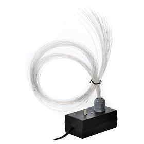 Illuminatore led dissolvenza tremolio 45 fili fibra ottica s1