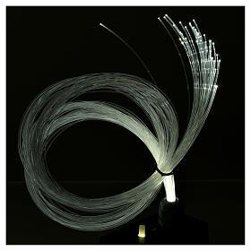 Illuminatore led dissolvenza tremolio 45 fili fibra ottica s4