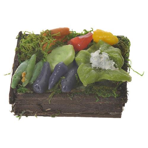 Caja con hortalizas cera para figuras pesebre 20-24 cm 1
