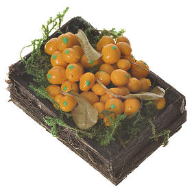 Cassetta frutta arancione cera figure presepe 20-24 cm s2