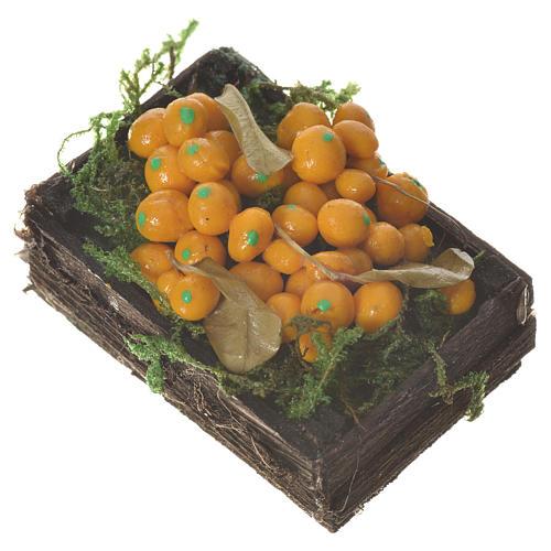 Cassetta frutta arancione cera figure presepe 20-24 cm 2