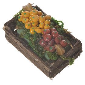 Accessory for nativities of 20-24cm, box with mixed fruit in wax s2