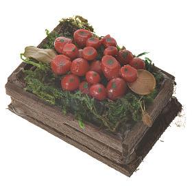 Cassetta frutta rossa cera figure presepe 20-24 cm s2