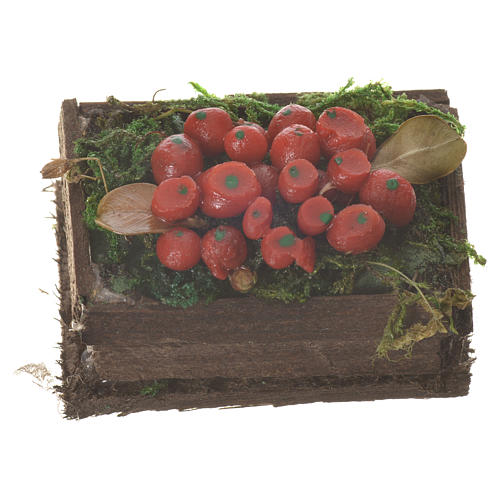 Cassetta frutta rossa cera figure presepe 20-24 cm 1