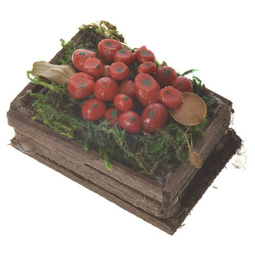 Cassetta frutta rossa cera figure presepe 20-24 cm 2