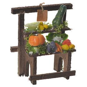 Banchetto fruttivendolo cera presepe 8,5x7x4 cm s1