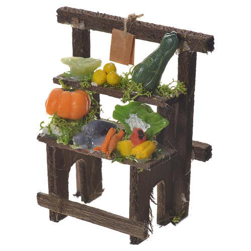 Banchetto fruttivendolo cera presepe 8,5x7x4 cm 2