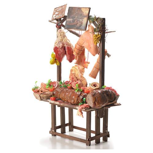 Banc marchand porchetta cire crèche 52x38x20 cm 2