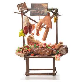 Comida em Miniatura para Presépio: Banca vendedor porco assado cera presépio 52x38x20 cm
