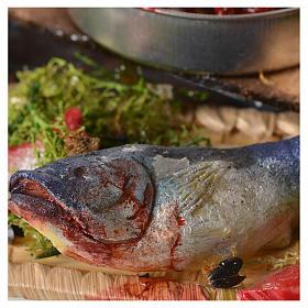 Stand Fischverkäufer Wachs Krippe 48x26x24 cm s8