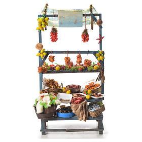 Comida em Miniatura para Presépio: Banca peixeiro cera presépio 48x26x24 cm
