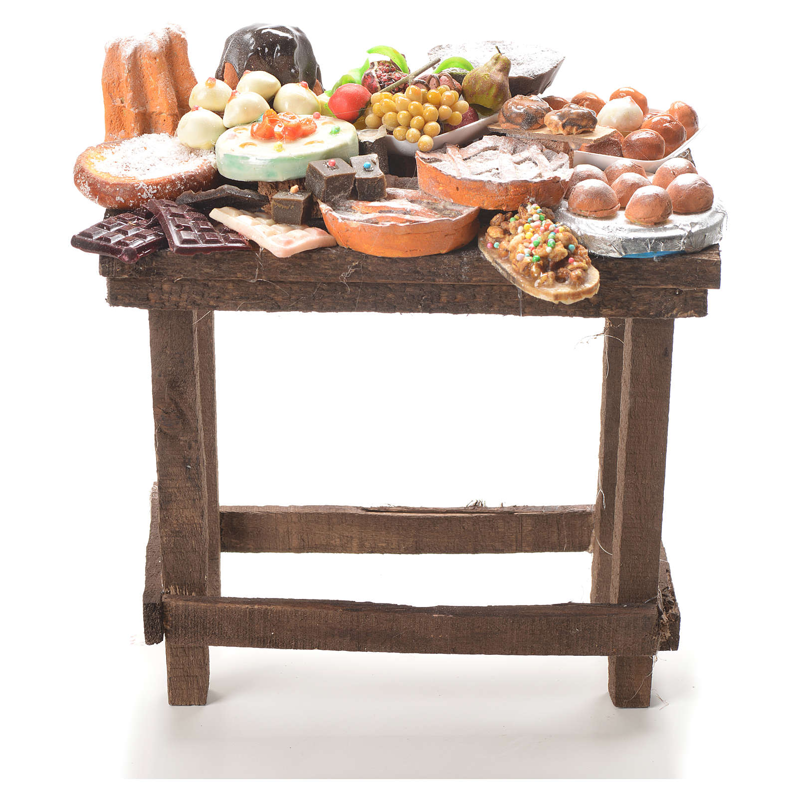 Table gâteaux cire crèche 20,5x20x13 cm 4