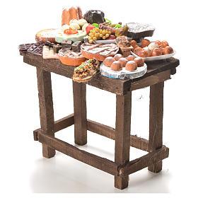 Table gâteaux cire crèche 20,5x20x13 cm s2