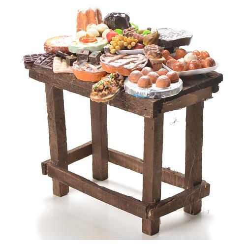 Table gâteaux cire crèche 20,5x20x13 cm 2