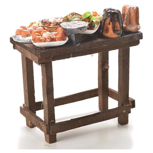 Table gâteaux cire crèche 20,5x20x13 cm 3