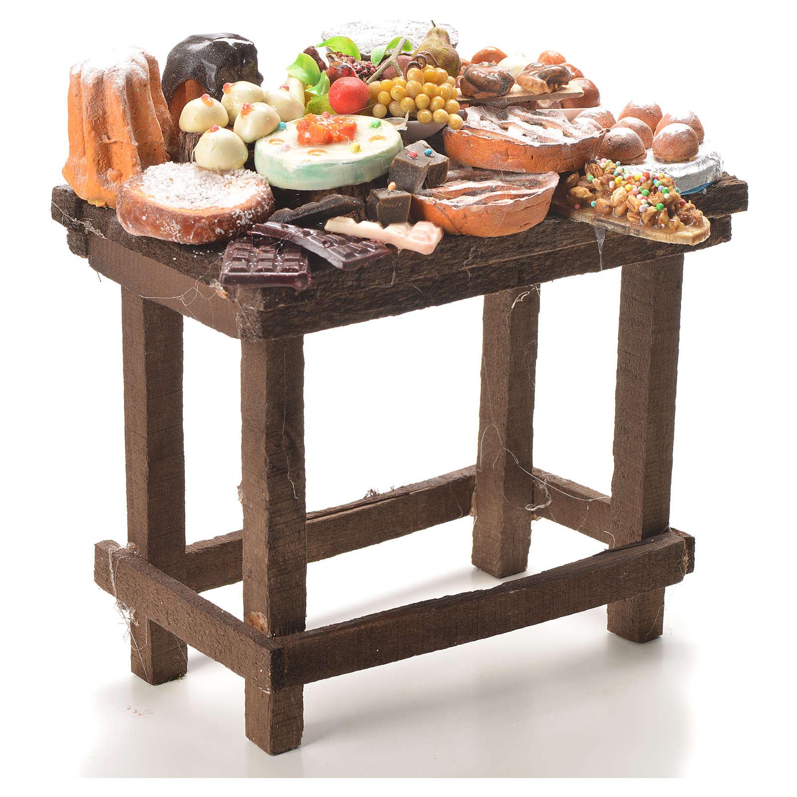Tavolo dolci cera presepe 20,5x20x13 cm 4