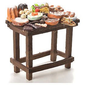 Tavolo dolci cera presepe 20,5x20x13 cm s4