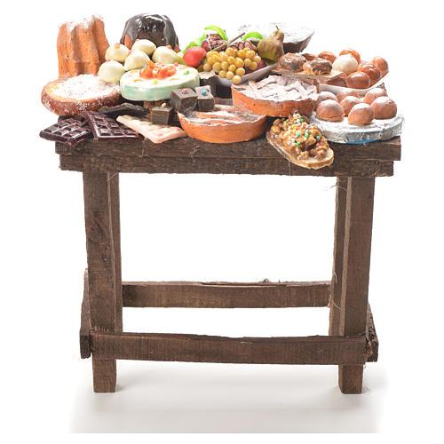 Tavolo dolci cera presepe 20,5x20x13 cm 1