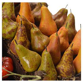 Banc marchand de fruit en cire pour crèche 41x22x15 cm s5