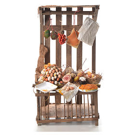 Nativity stall with cured meat in wax 41x25x16cm s1