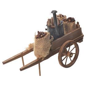 Neapolitan nativity accessory, roasted chestnuts cart s1