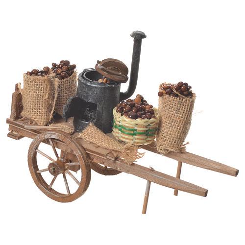 Neapolitan nativity accessory, roasted chestnuts cart 2