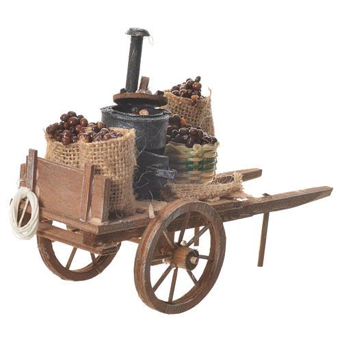 Neapolitan nativity accessory, roasted chestnuts cart 3