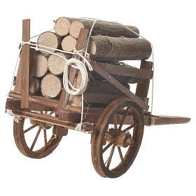 Carro legna presepe Napoletano 18x6cm s3