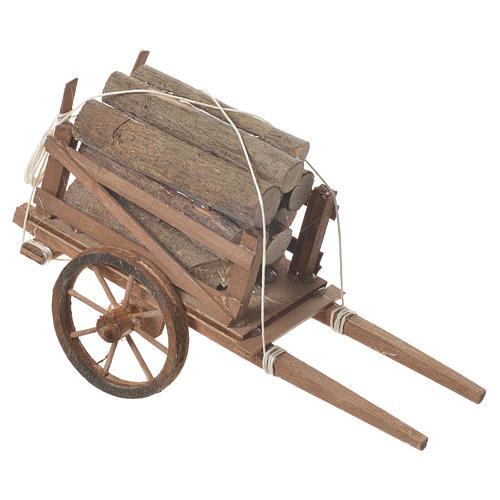 Carro legna presepe Napoletano 18x6cm 2