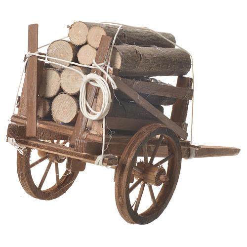 Carro legna presepe Napoletano 18x6cm 3