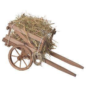 Cart with hay, Neapolitan nativity 18x6cm s2