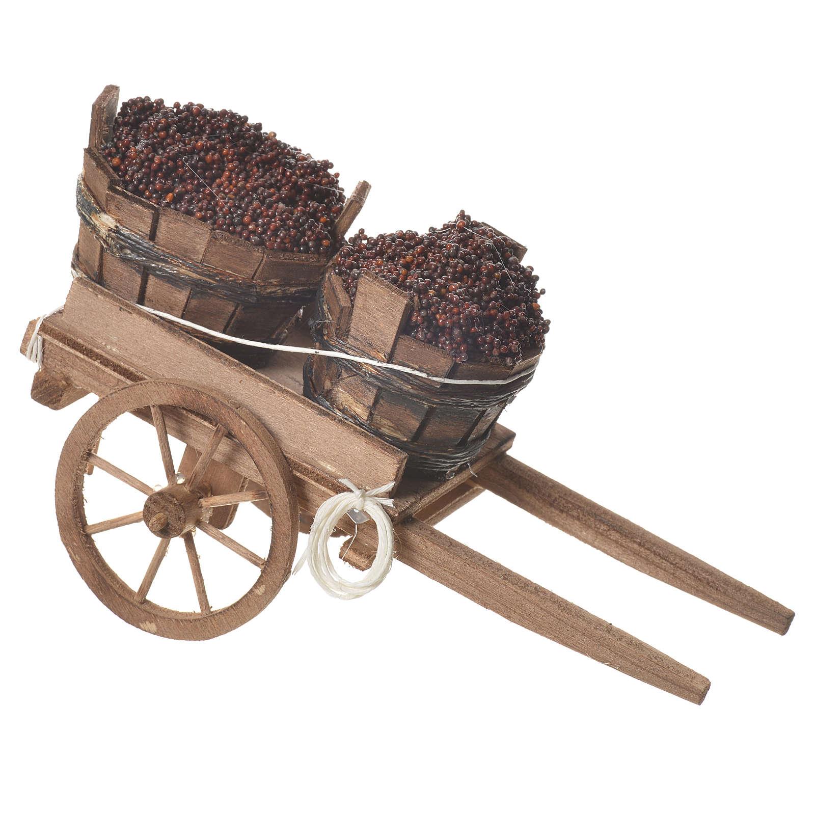 Wózek z beczkami 18x6cm 4