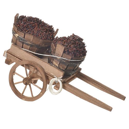 Wózek z beczkami 18x6cm 2