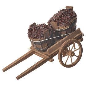 Cart with tubs, Neapolitan nativity 18x6cm s1