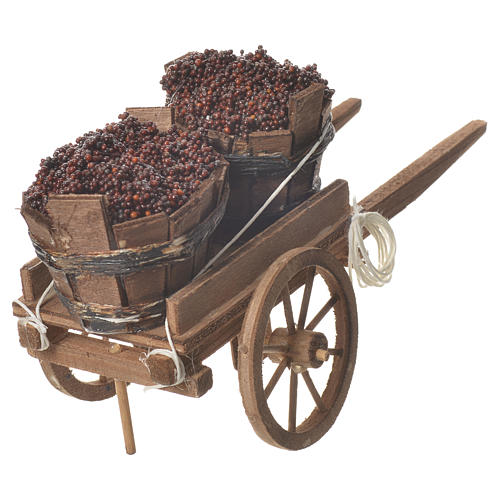 Cart with tubs, Neapolitan nativity 18x6cm 3