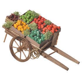 Wóz owoce w skrzynce szopka neapolitańska 18x6 cm s2