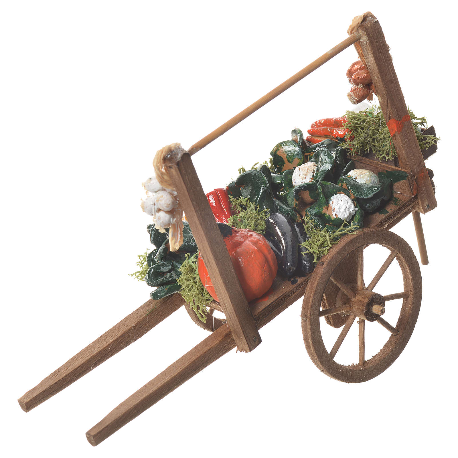 Carro verdura presepe Napoletano 18x6cm 4