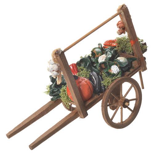 Carro verdura presepe Napoletano 18x6cm 1
