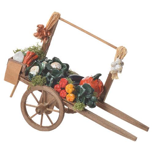 Carro verdura presepe Napoletano 18x6cm 2