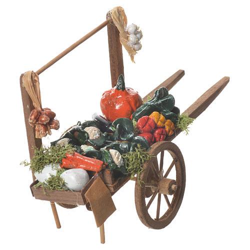 Carro verdura presepe Napoletano 18x6cm 3