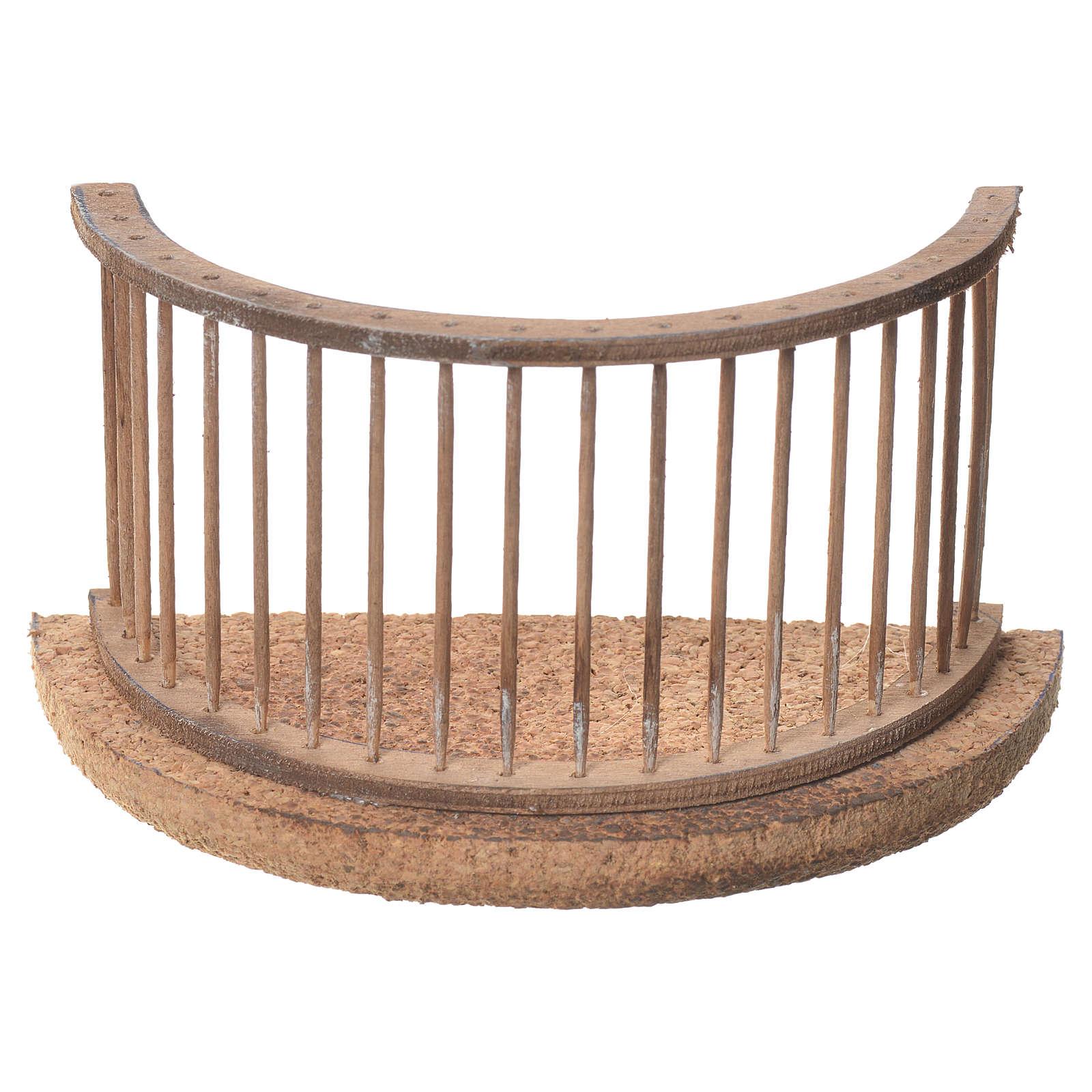 Balcon crèche napolitaine 13x8 cm 4